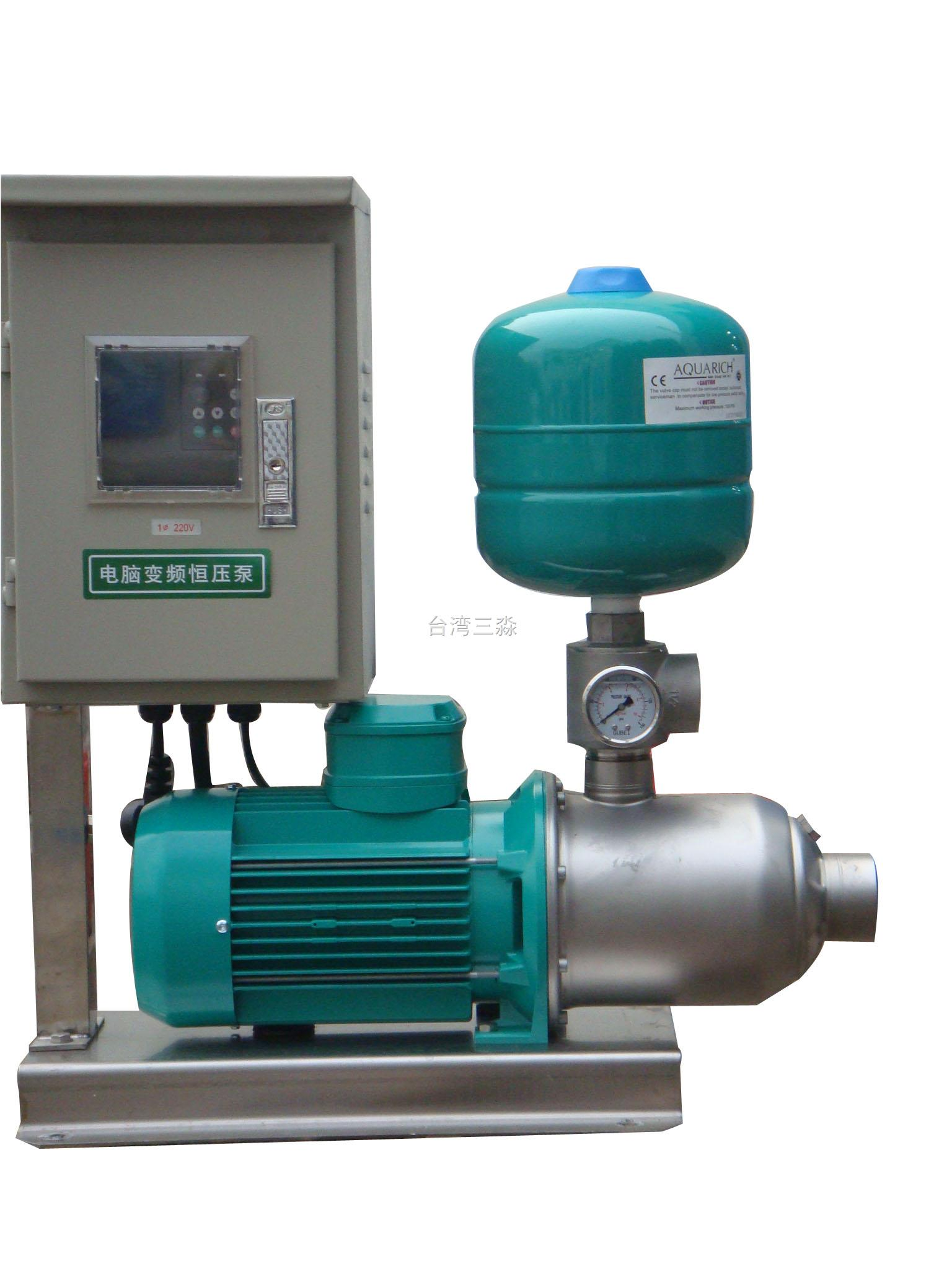 水泵专用变频器,专用止回阀,压力传感器,压力桶等,完美组合的智能供水