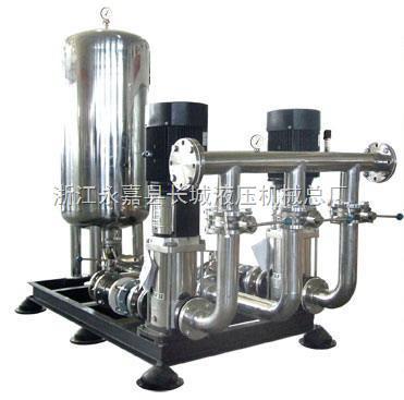 方案设备计灵活,供水压力可调,流量可大可小,完全可以取代水塔,高位