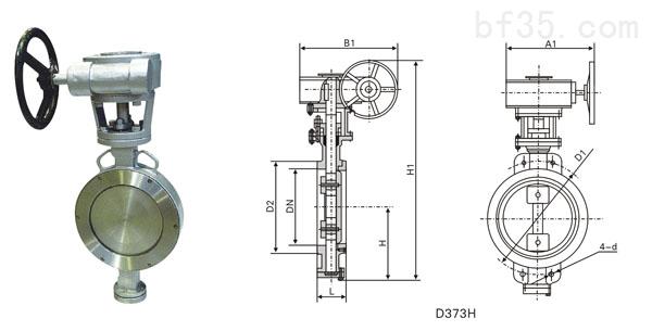 供应东森d371对夹式硬密封蝶阀图片